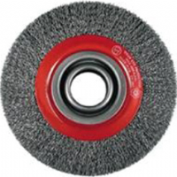 Wheel brushes for bench grinders